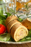 Roulade with cheese and bacon Royalty Free Stock Image