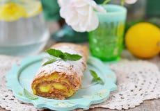 Roulade da merengue Fotografia de Stock