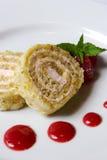 Roulade de fraise Photographie stock libre de droits