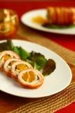 Roulade de la Turquie avec l'abricot Photo stock