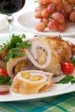 Roulade Prosciutto κοτόπουλου Στοκ Εικόνα