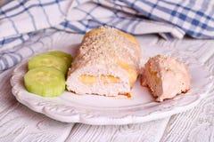 Roulade Prosciutto κοτόπουλου Στοκ εικόνες με δικαίωμα ελεύθερης χρήσης