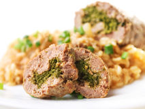 Roulade with risotto Royalty Free Stock Photos