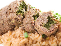 Roulade with risotto Stock Photography