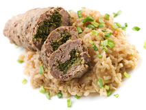 Roulade with risotto Stock Image