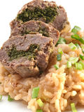 Roulade with risotto Stock Photos