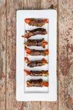 Roulades de viande avec des légumes images stock