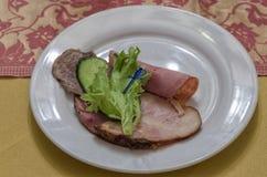 Roulades de viande avec du fromage image libre de droits