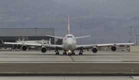 747 roulant au sol Image libre de droits