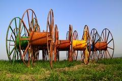 Roule des tuyaux d'irrigation Photographie stock