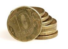 Rouleau 10 рублей на белой предпосылке Стоковые Фотографии RF