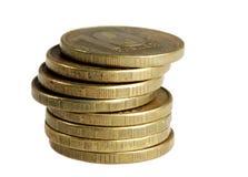 Rouleau 10 рублей на белой предпосылке Стоковые Изображения RF