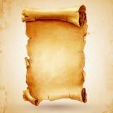 Rouleau antique de Pergamena Photographie stock libre de droits