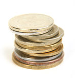 Rouleau of coins Royalty Free Stock Photography