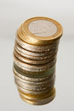 Rouleau of coins Stock Photo