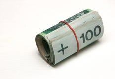 Rouleau d'argent Photo stock