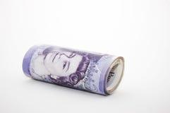 Rouleau d'argent Image libre de droits