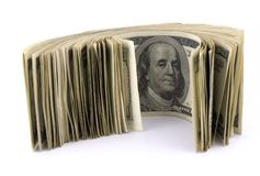 Rouleau d'argent photographie stock