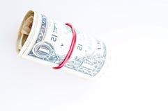 Rouleau d'argent Photographie stock libre de droits