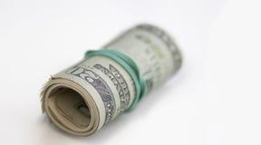 Rouleau d'argent liquide de dollar US Images libres de droits