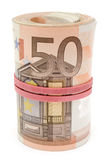 Rouleau d'euro factures Photos stock