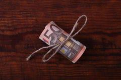 Rouleau d'euros Image stock