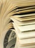 Rouleau de $100 factures Image libre de droits