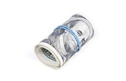 Rouleau de billets de banque du dollar Image stock