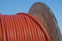 Rouleau de câbles Photographie stock