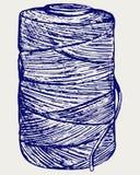 Rouleau de corde de ficelle illustration libre de droits