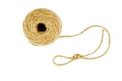 Rouleau de corde de toile de ficelle d'isolement Photos stock