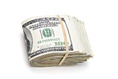 Rouleau de dollar d'argent Photographie stock