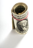 Rouleau de factures ou de billets de banque d'un USD Image stock