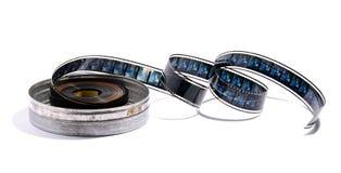 Rouleau de film cinématographique dans une boîte métallique Photos libres de droits
