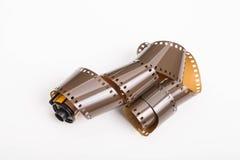 Rouleau de film de 35mm sur le blanc Images libres de droits