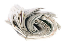 Rouleau de journaux Image libre de droits