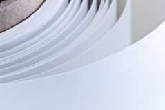 Rouleau de papier blanc images libres de droits