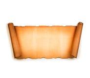 Rouleau de papier blanc de vintage d'isolement sur le blanc Photo libre de droits