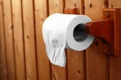 Rouleau de papier hygiénique de salle de bains Images libres de droits