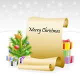 Rouleau de papier pour des félicitations de Noël Image stock