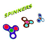 Rouleau de passe-temps d'enfants de jouets d'enfants de doigt de fileur Image libre de droits