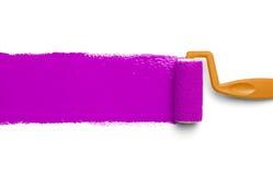 Rouleau de peinture rose Photographie stock libre de droits