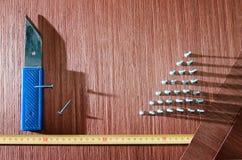 Rouleau de placage de chêne Image stock