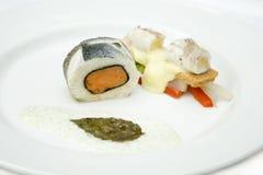 Rouleau de saumons Images stock