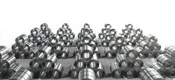 Rouleau de tôle d'acier dans l'usine illustration libre de droits