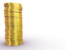 Rouleau dei dollari dell'oro Fotografie Stock