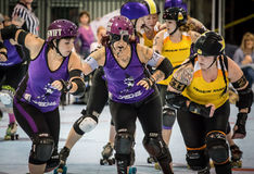 Rouleau Derby Girls Photo stock