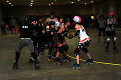 Rouleau Derby Girls Photos stock