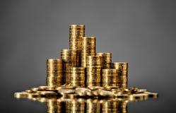 Rouleau gouden muntstuk royalty-vrije stock fotografie