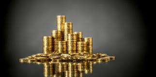 Rouleau gouden muntstuk royalty-vrije stock afbeelding